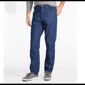 LL Bean Double L Natural Fit Faded Denim Size 44